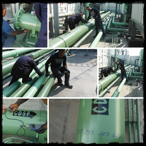 Painting System For Pipe at Cooling Tower Area