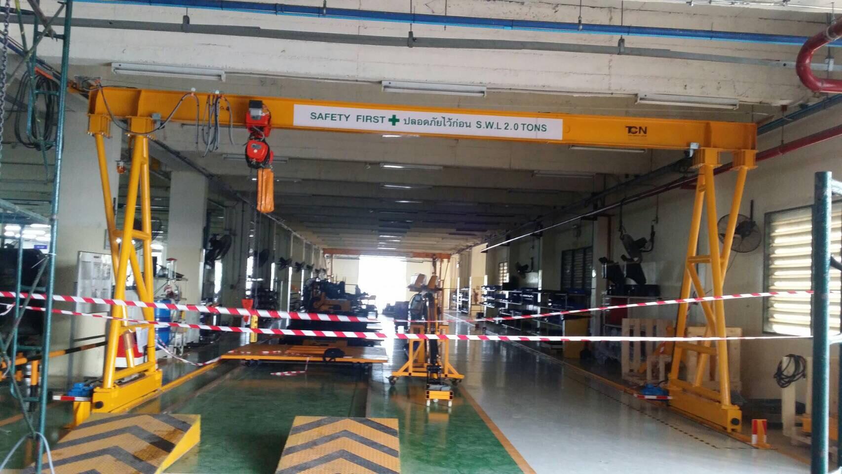 ติดตั้งเครนโรงงาน