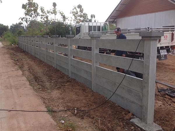 รั้วบ้านปูนคอนกรีต