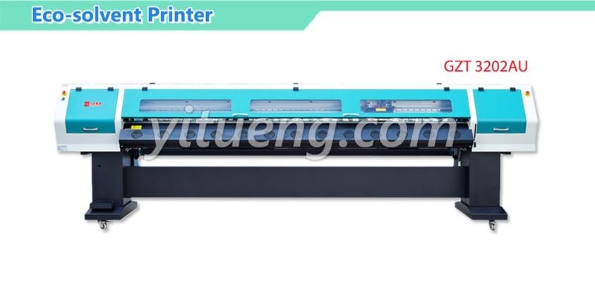 เครื่องพิมพ์อิงค์เจ็ท Eco-solvent Printer inkjet GZT3202AU Spectra Polaris 512 Heads/35pl (2 หัวพิมพ์ 4 สี)
