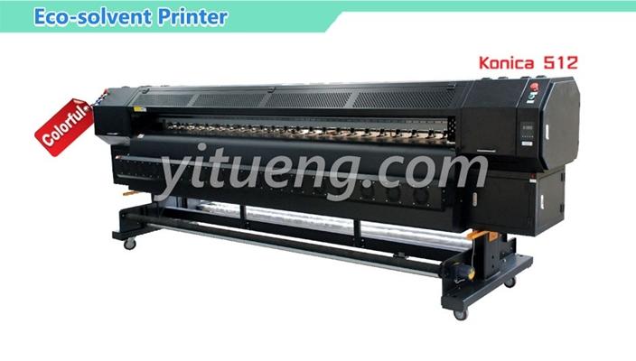 เครื่องพิมพ์อิงค์เจ็ท Eco-solvent Printer inkjet Konica 512 42PL (4 หัวพิมพ์ 4 สี)