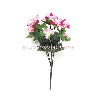 ดอกไม้ปลอม  ดอกอาซาเลียสีบานเย็น