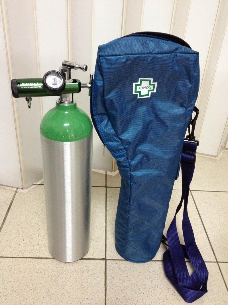 ชุดถังอลูมิเนียมให้ออกซิเจนแบบพกพา ขนาด 0.5 คิว หรือ 500 ลิตร (DP-500BG)