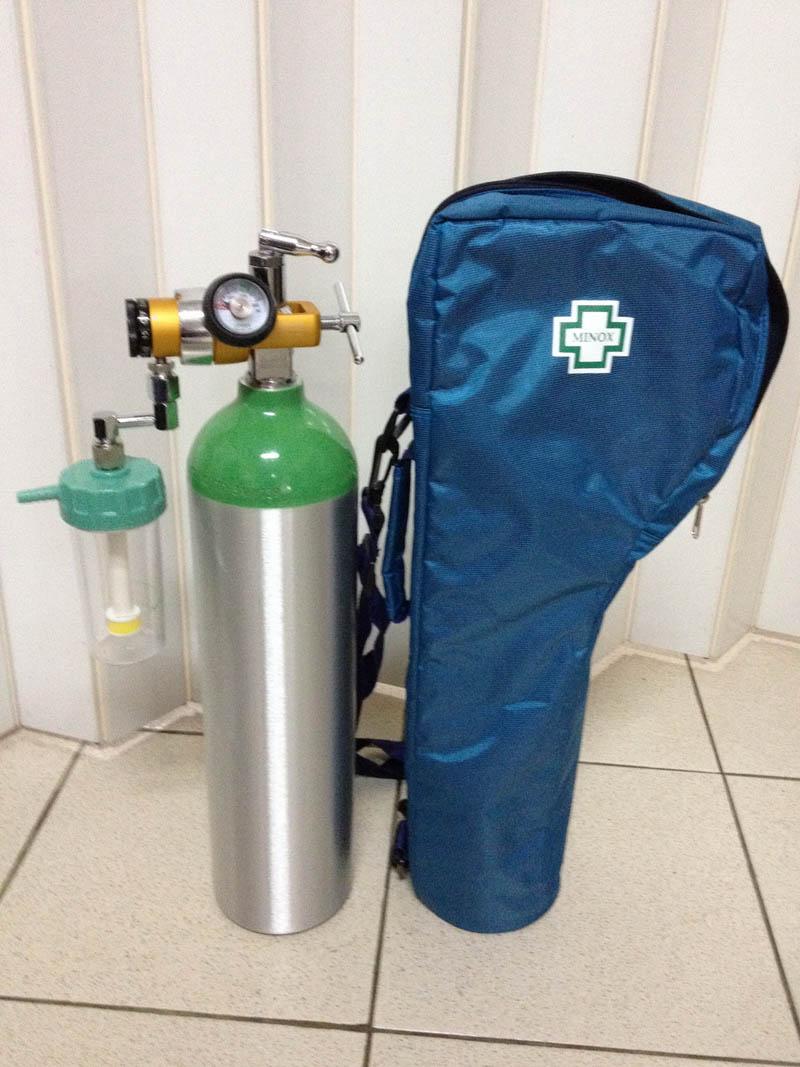 ชุดถังอลูมิเนียมให้ออกซิเจนแบบพกพา ขนาด 0.5 คิว หรือ 500 ลิตร (DP-500BWE)