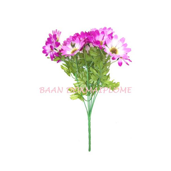 ดอกไม้ปลอม  ดอกเยอบีร่า สีม่วง