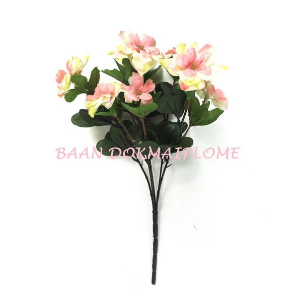 ดอกไม้ปลอม  ดอกอาซาเลีย สีโอสรส