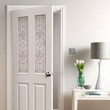 ประตูแผ่นใยไม้อัดคุณภาพสูง (HDF)