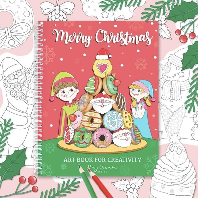 Merry Christmas Art Book