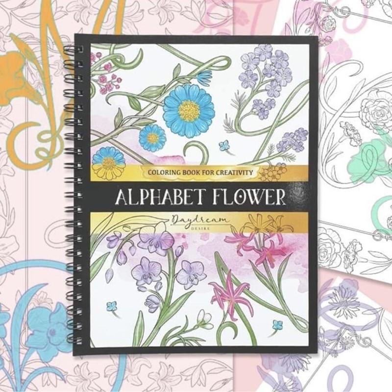 Alphabet Flower Art Book