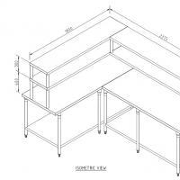 โต๊ะสแตนเลส ชั้นวาง 2 ชั้น