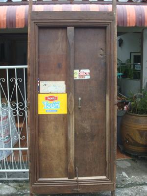 บานประตูทรงไทยโบราณ