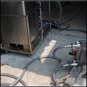 ล้างเครื่องแลกเปลี่ยนความร้อนแบบ CIP