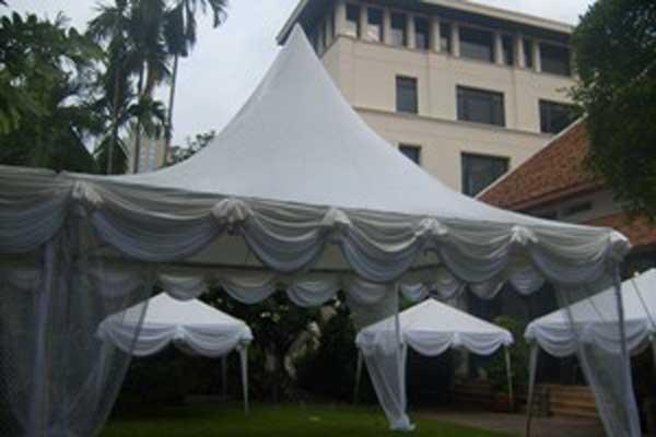 เต็นท์ทรงฟูจิสีขาว ขนาด 5 x 5 เมตร