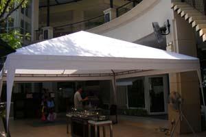 เต็นท์ทรงปิระมิดสีขาว ขนาด 5 x 5 เมตร