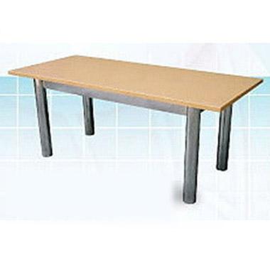 โต๊ะประชุม ขาเหล็กชุปโครเมี่ยม
