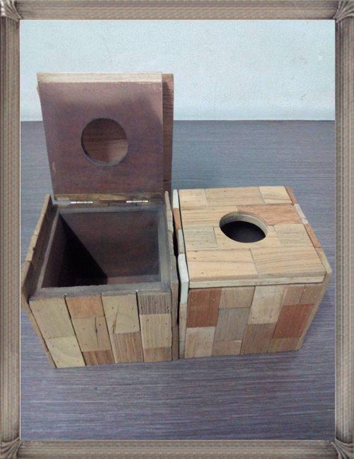 กล่องทิชชู ไม้เทคเจอร์