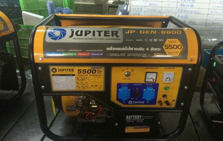 เครื่องยนต์ปั่นไฟ เบนซิน 4 จังหวะ JUPITER รุ่น JP-GEN-6600