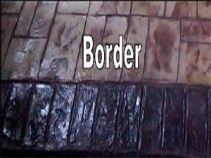 พื้นคอนกรีตพิมพ์ลาย (Border)