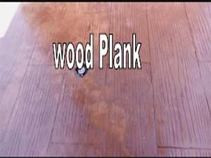 พื้นคอนกรีตพิมพ์ลาย (Wood Plank)