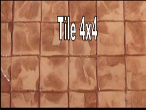 พื้นคอนกรีตพิมพ์ลาย (Tile 4 x 4)