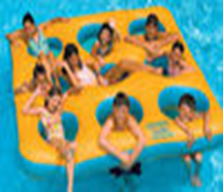 ห่วงยางแบบแพสีเหลือง นั่ง 9 คน