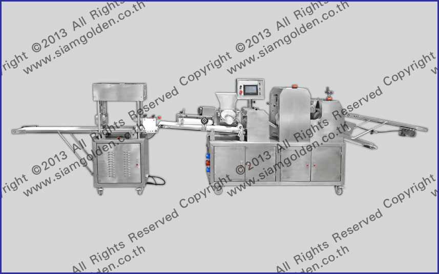 THE PRODUCTION LINE OF FRENCH SWEET BREADS ZR 398