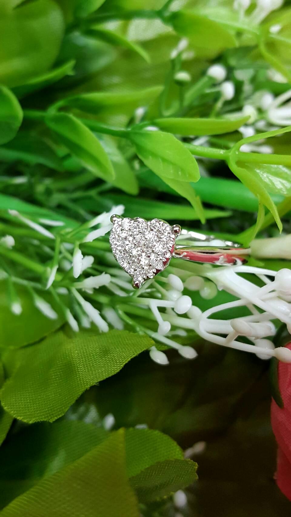 แหวนเพชรประกบหัวใจ DRG 10154