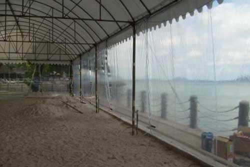 เต็นท์ทรงโค้งสีขาว ขนาด 10 x 20 เมตร