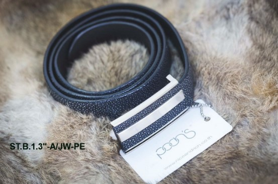 Black Leather Belt B 1 3