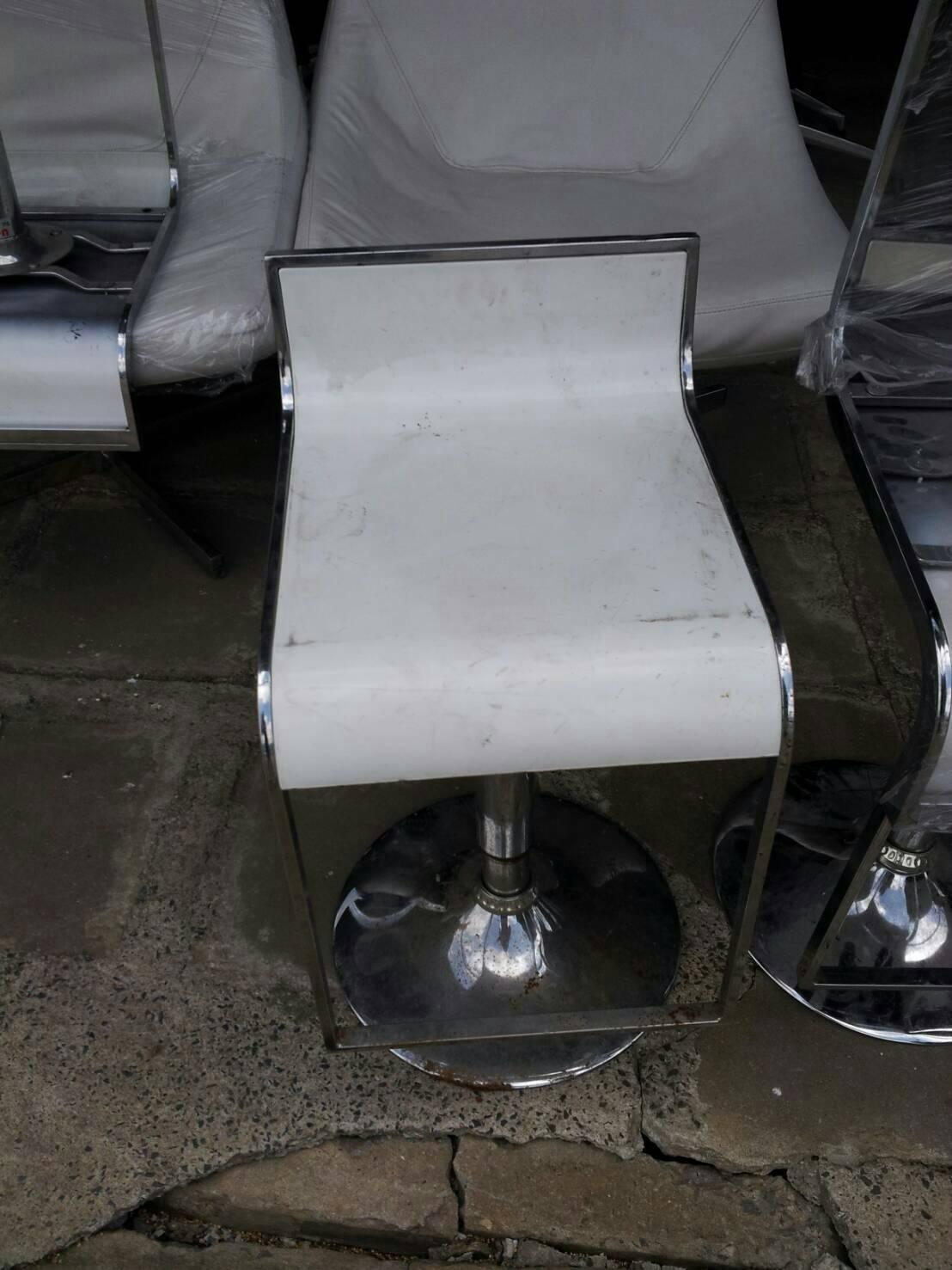 เก้าอี้บาร์ สีขาว