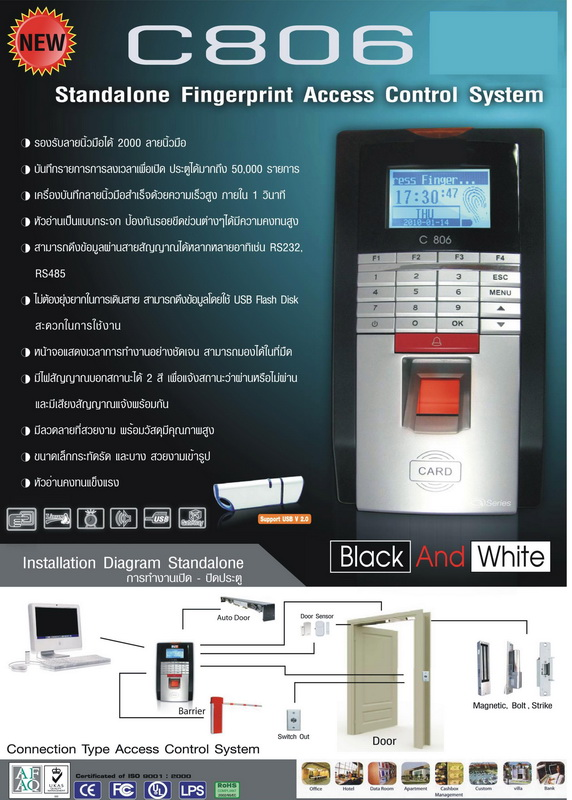 Access control C 806 ( finger scan )