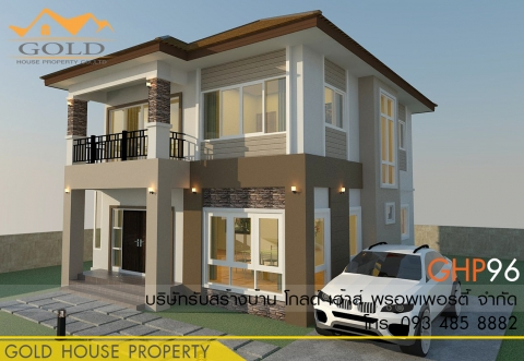 แบบบ้านสองชั้น GHP96