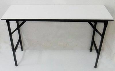 โต๊ะพับหน้าฟอเมก้าขาว 25 มม.