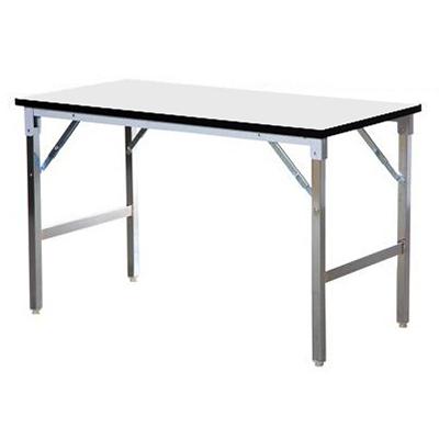 โต๊ะพับหน้าฟอเมก้าขาว ขาสแตนเลส