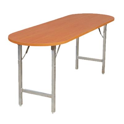 โต๊ะพับไม้ปาติเกิล ปิดผิวหน้าลายไม้วงรี