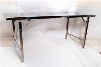 โต๊ะสแตนเลสแท้ทั้งตัว ขา 1.2 นิ้ว