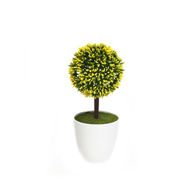 กระถางลูกบอล เหลือง x1