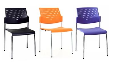 เก้าอี้โพลี พนักพิงมีรู