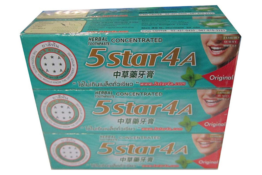 5ดาว4A ยาสีฟัน แบบหลอด 100 กรัม 12 หลอด