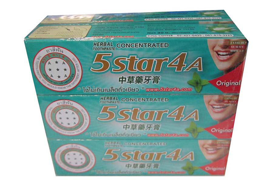 5ดาว4A ยาสีฟัน แบบหลอด 100 กรัม 6 หลอด
