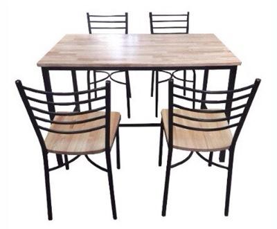 โต๊ะอาหารหน้าไม้ยาง