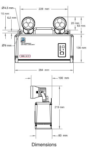 โคมไฟฟ้าฉุกเฉิน LD-111