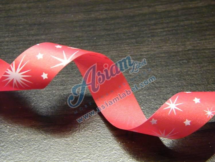 ริบบิ้นโบว์พิมพ์ลาย โบว์ริบบิ้น ribbon bow
