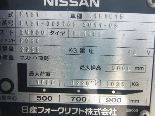 รถโฟล์คลิฟท์ NISSAN K1B1L15 003788