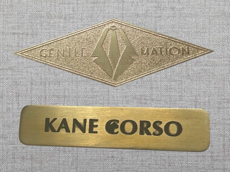 ป้ายเนมเพลทเลเซอร์ทองเหลือง Brass Laser Engraving