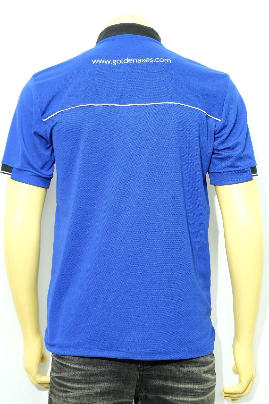 เสื้อโปโลสีน้ำเงิน ปักลาย