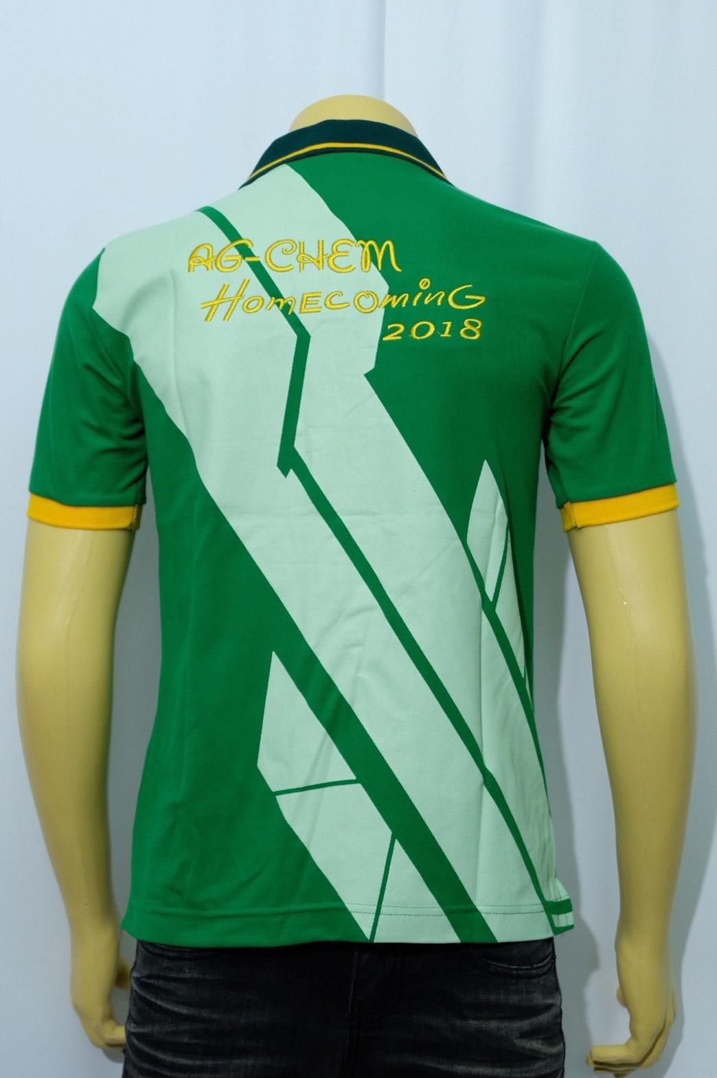 เสื้อโปโลสีเขียว พร้อมปักลาย