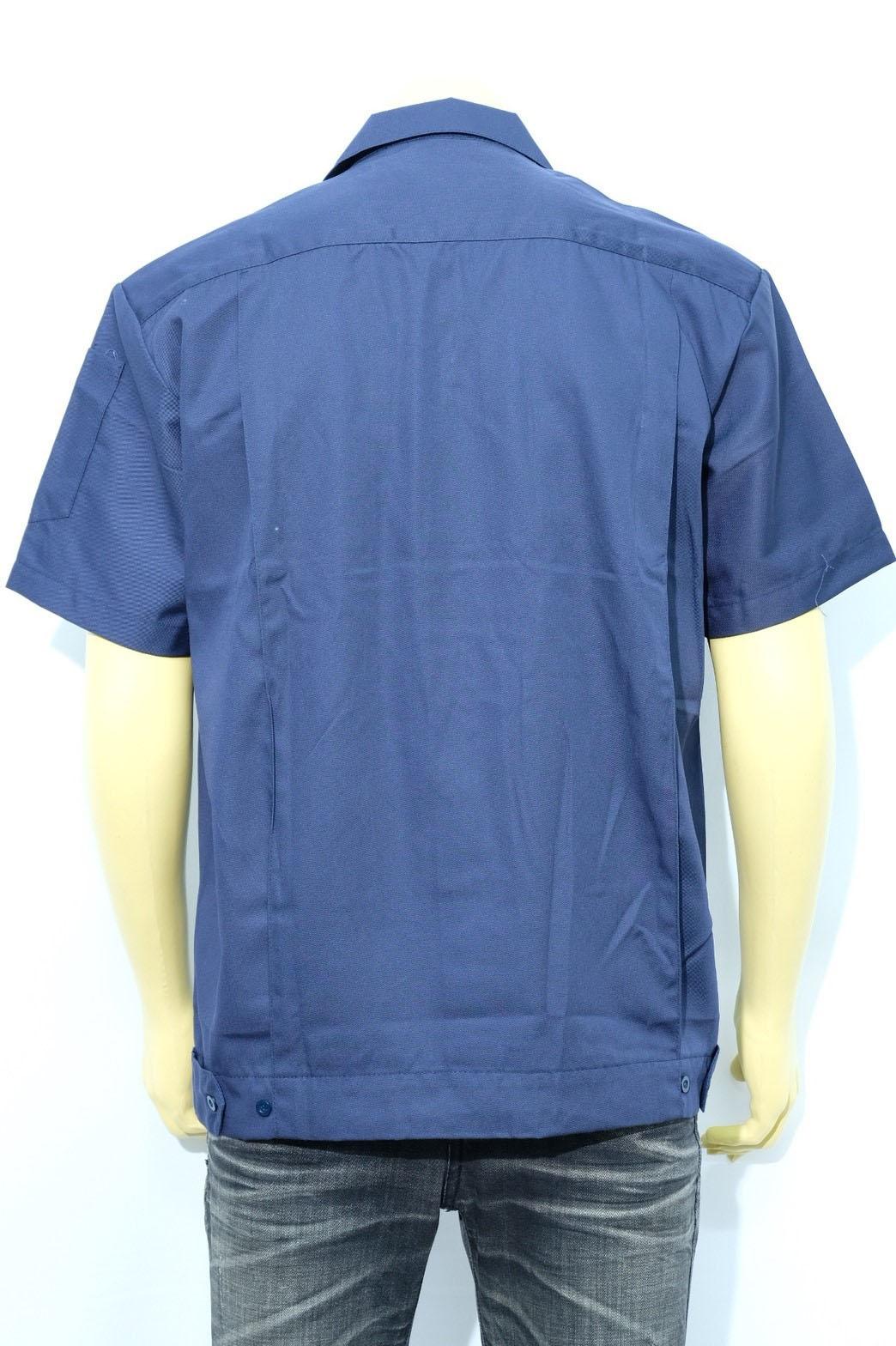 เสื้อช็อปสีน้ำเงิน