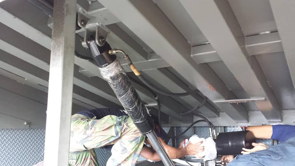 งานซ่อมระบบไฮดรอลิคสะพานปรับระดับ (Dock Leveler)