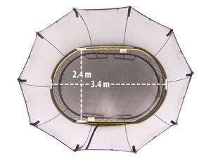 สปริงฟรีแทรมโพลีน O77 แบบวงรี พร้อมบันได